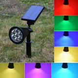 7LED RGB 통로 태양 빛 LED 스포트라이트 옥외 방수 태양 에너지 스포트라이트 정원 야드 경로 잔디밭 램프 조경 빛