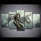 [هد] طبع 5 [بيس كنفس] فنية مجموعة تصوّر ملاك محارب جنوح صورة زيتيّة غرفة زخرفة [أنيم] بنت ملصقة
