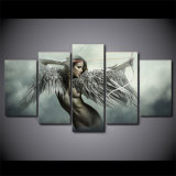 HD напечатало плакат девушки Anime декора комнаты картины крыла ратника ангела фантазии 5 комплектов искусствоа холстины части