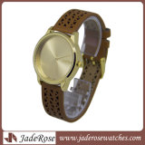 Hotselling 석영 시계, Alloy Wristwatch 의 진짜 가죽 시계 형식 숙녀