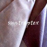 돋을새김한 스웨드 직물은 소파를 위한 솔질한 뜨개질을 한 직물로 접착시켰다