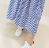 Высокое качество полосатый женщин широкие брюки ног