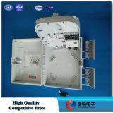 Adaptador de fibra ODF no exterior da caixa de terminais
