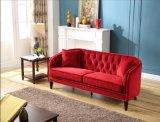 A mobília Home adornou o jogo vermelho do sofá de Chesterfield