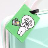 Kundenspezifischer weicher Belüftung-Arbeitsweg-Gepäck-Beutel/Handtaschen-Marke/Silikon-Gummigepäck-Marke