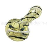 L'alta qualità all'ingrosso America colora i cucchiai di vetro del tubo della mano (ES-HP-322)