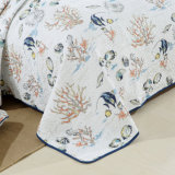 100%хлопок печать промойте одеяла покрывала кроватью размера