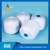 고품질 100%년 폴리에스테 손 뜨개질을 하는 털실 제조 처리되지 않는 백색