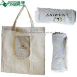 Fait dans le sac à provisions pliable de coton de la Chine en roulis annonçant le sac se pliant