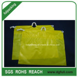 Jaune Beau cadeau coulisse sac en plastique, sac de promotion pour le shopping