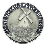 preço de fábrica da Polícia de latão moedas desafio como dons de promoção (083)
