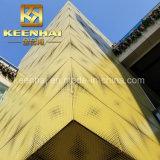 Pannelli di rivestimento perforati di alluminio della facciata della nuova parete esterna di disegno