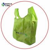 Ecológicas asa plegable personalizado resistente bolsa plegable de bolsillo Bolsa de compras