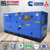 パーキンズエンジンを搭載する3phase燃料のLesssの発電機60kVA 50kwの無声ディーゼル発電機