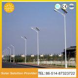 Certificación RoHS Calle luz LED de alta eficiencia de la energía solar