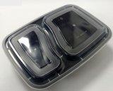 Recipiente de alimentos 2 compartimentos de PP Lunch Box
