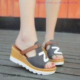 Womens Mesdames Curseurs de sangle de sandales à plat les pantoufles confortables chaussures d'été