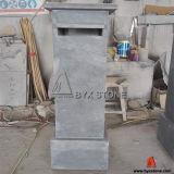 Handmade Letter Box/Post de piedra caliza azul buzón para el jardín al aire libre