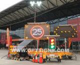 RV017 Rimorchio-Montato facendo pubblicità a 5 segni mobili del messaggio di colore LED