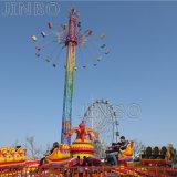 El Equipo de Parque de Atracciones de la torre de vuelo Sky Flyer paseos de giro