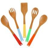 Cooksmark de Kokende Werktuigen van het Bamboe van 5 Stukken