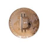 무료 샘플 Gold-Plated 금관 악기 Bitcoin 접어젖힌 옷깃 Pin