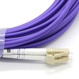LC-LC OM3 10g 40g 50/125 um dúplex de fibra óptica Cable de fibra óptica Cable de fibra
