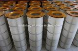 Filtro de aire de extracción de polvo de la brida de tacos de 3 cartucho de filtro de aire del colector de polvo
