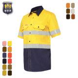 Het korte Weerspiegelende Overhemd van de Veiligheid van de Slijtage van het Werk van Workwear van de Koker