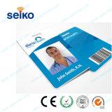 Scheda di identificazione del ritratto della scheda del PVC di identità per presenza degli impiegati