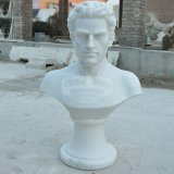 L'homme buste en marbre blanc pour la table à l'ornement