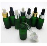 Bottiglia di vetro verde del contagoccia 30ml per olio
