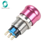 IP67 19mm 1no1nc Metal Aluminum Emergency Stop Push Button Switch