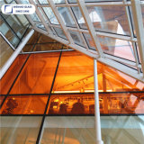 La construcción de muro cortina de cristal térmico de doble acristalamiento de tamaño personalizado
