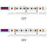 24VDC 7.2W/M LED 5060の高い発電の適用範囲が広いストリップ