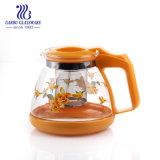 900ml Theepot van het Glas van het glas de Teaware Aangepaste Afdrukkende met Infuser