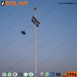 9mの街灯柱50Wの太陽風ハイブリッドLEDの街灯