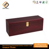 Vino único de madera de alta calidad caja de regalo