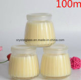 Pudding-Glasglas des Nahrungsmittelgrad-100ml 200ml 250ml mit Plastikkappen