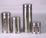 Glasglas mit Metallmantel für Küche konservierte