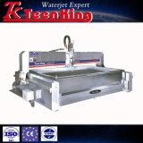 Volledig Roestvrij staal Behandelde CNC Schurende Waterjet Scherpe Machine met het Scherpe Hoofd van 3 As