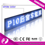 Pantalla LED P10 solo color LED de la exhibición del coche autobús