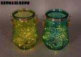Decoración de muebles Artesanía de vidrio ligero con cadena de cobre Iluminación LED (9111)