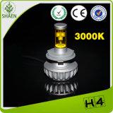 Peças de carro 3000lm 30W H4 Car LED Headlight