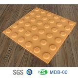 Antideslizante de advertencia de PVC al aire libre táctil plástico ladrillo ladrillo azulejo 300 * 300