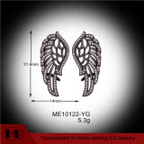 Em forma de penas 925 brincos de prata esterlina Whosales revestimento preto 925 Libra Esterlina brincos de Prata