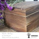 Casella di legno di Hongdao, casella di legno con il marchio stampato e rivestimento del velluto