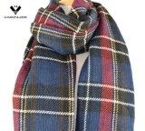 O dobro tomou o partido lenço macio desproporcionado tecido do cobertor do Tartan da manta do envoltório