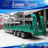 De op zwaar werk berekende Semi Aanhangwagen van Lowbed van de Aanhangwagen van het Bed van 3 As Lage, 60 Ton aan 100 van de Lage van de Lader Ton Aanhangwagen van de Vrachtwagen voor Verkoop