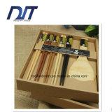 Le bacchette di legno su ordinazione di stile giapponese di marchio hanno impostato per il regalo